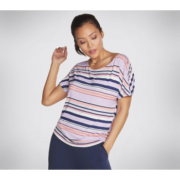 Skechers WOMEN'S STRIPE SUNKISSED TEE