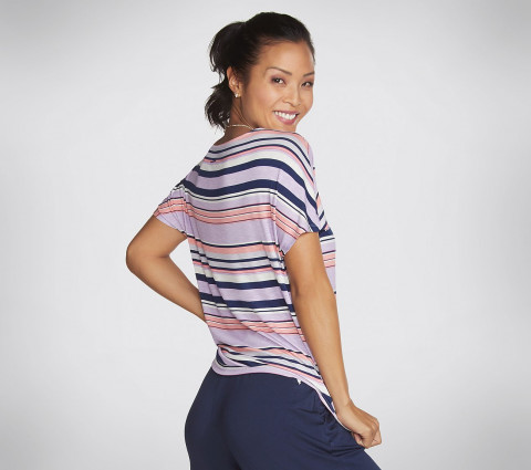 WOMEN'S STRIPE SUNKISSED TEE